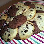 Cookies marbré aux pépites de chocolat