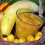 recette Compote de mirabelles, orange, pomme et banane au sumac