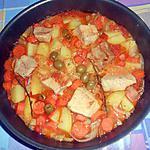 recette RAGU  DI  MAIALE  CAROTE  E  PATATE (RAGOUT DE PORC CAROTTES ET P.DE TERRE)