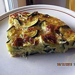 recette Frittata di zucchine e porri (omelette de poireau-courgettes) au four