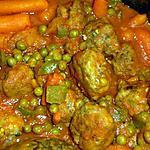 recette Boulettes de bœuf aux petits pois/carottes