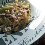 Macaronis à la carbonara d'auvergne