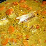 recette Curry de lieu aux carottes