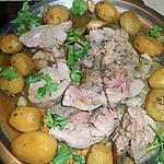 Roti de dinde aux pommes grenaille