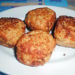 recette CROQUETTES  D'OEUFS  ET  POULET