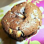recette Petits moelleux au chocolat noir et ses pépites de chocolat blanc
