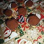 recette Truffes de Noel au chocolat et son coeur surprise au nougat