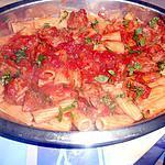 recette TORTIGLIONI  AL VITELLO ( au veau)