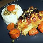 recette Poulet rôti au thym sur lit de carottes au cumin