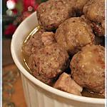 recette ~Ragoût de boulettes et de longe de porc~