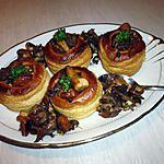 recette Bouchées au confit de canard et aux cèpes