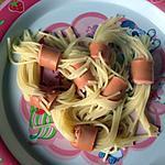 recette spaghetti saucisse