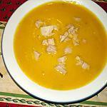 recette velouté de potimarron aux épices et dès de fois gras