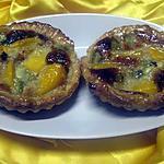 recette Tartelettes.mangue. kiwis.sur une crème.