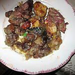 recette supreme de chapon aux p de terre champignons lardons  sauce vin moelleux