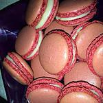 recette Macarons framboise, coeur framboise et ganache coco