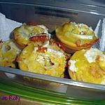 recette Mini-moelleux chèvre bacon