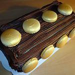 recette Bûche aux macarons et mousse au Nutella