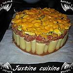 recette Gâteau de pâtes à la bolognaise de courgettes et mimolette