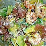 recette Salade vitaminée avocat/crevette/pamplemousse