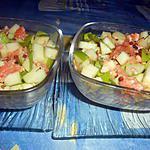 recette Verrine de saumon aux pommes vertes