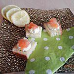 recette Bouchées apéritive mousse de bousin saumon