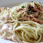 recette Spaghetti au Saumon rapide