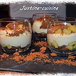 recette Verrine pommes, speculos et philadelphia