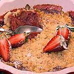 recette Crumble aux fraise