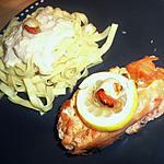 recette Paupiettes de saumon farcis aux noix de saint jacques