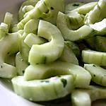 recette Concombre au fromage blanc