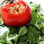 recette Tomate farci au crabe