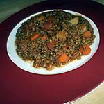 Lentilles à la bolognaise et chorizo