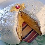 Forêt blanche (gâteau d'anniversaire pour mon chéwi)