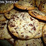 recette Cookies croustillants au chocolat