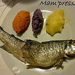 recette Truite blanche de Franche-Comté et son trio de purées