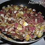 recette Poêlée d'endives aux coulemelles et gésiers de poulet