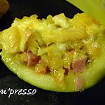 recette Courgettes farcies aux légumes