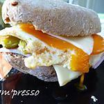 recette Sandwich au jambon, fromage et oeuf