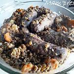 recette Lentilles vertes aux Pormoniers