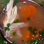 recette Bouillon de poulet vermicelles