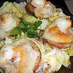 Salade aux croutons de chevre fondant