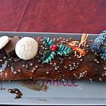 bûche au chocolat et caramel beurre salé