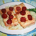 recette Pavé de saumon au chorizo