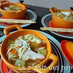 recette ~Soupe au poulet et nouilles