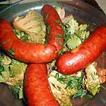 recette Saucisses fumées au chou romanesco