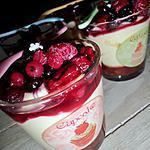 recette Tiramisu crousillant aux fruits rouge en verrines