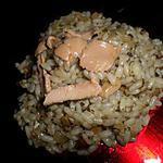 recette Risotto au cépes foie gras et sa compoté d'oignons
