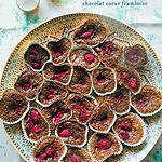 recette Cupcakes moelleux au chocolat coeur framboise