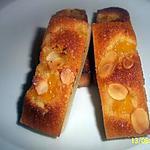 recette financier amande pêche au miel
